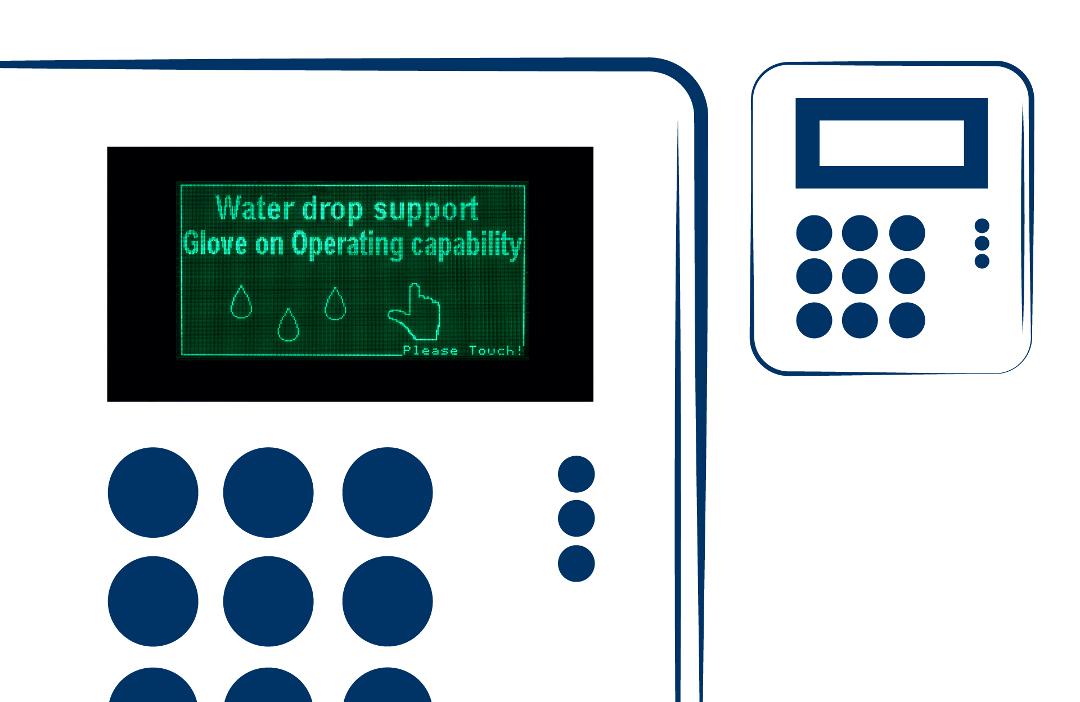 display LCD custom allarme