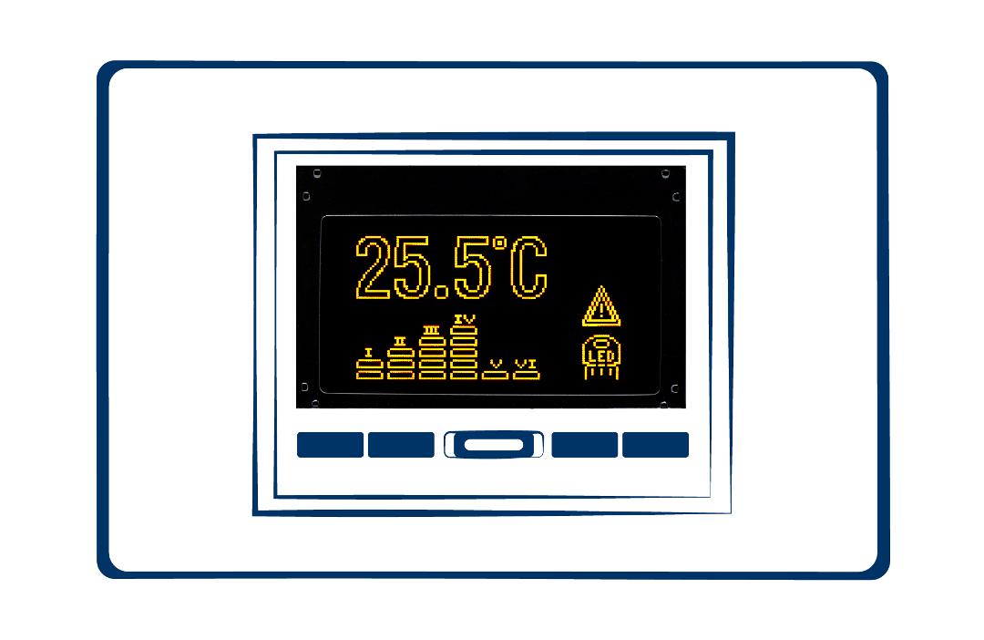 display LCD custom cronotermostato